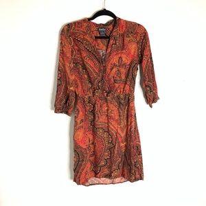 Lucky Brand Paisley Print Dress Size Small